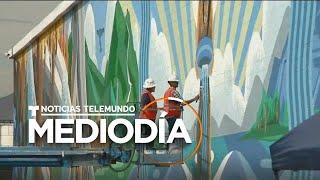 Artista en California pinta murales de reconocimiento a la comunidad latina   Noticias Telemundo
