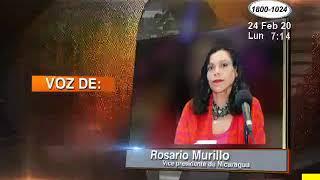 La intervención de este lunes de la vicepresidenta Rosario Murillo estuvo dirigida la oposición