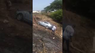 Car Fly Over Gully In Jamaica @Girlz Connection Tv
