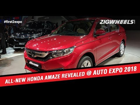 All-new Honda Amaze Revealed at Auto Expo 2018