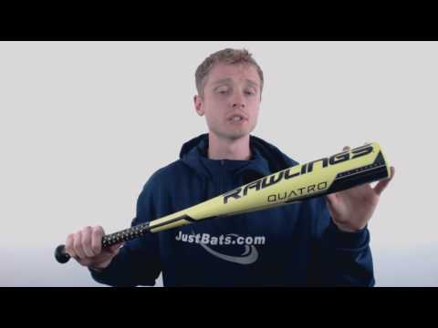 2018 Rawlings Quatro -11 Junior Big Barrel Baseball Bat: UT8Q11