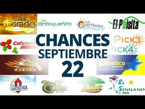 Resultados del Chance del Miércoles 22 de Septiembre de 2021   Loterias