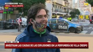 Explosiones e incendio en una perfumería de Villa Crespo en Hoy Nos Toca a las Ocho