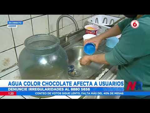 Agua color chocolate afecta a usuarios en Aserrí
