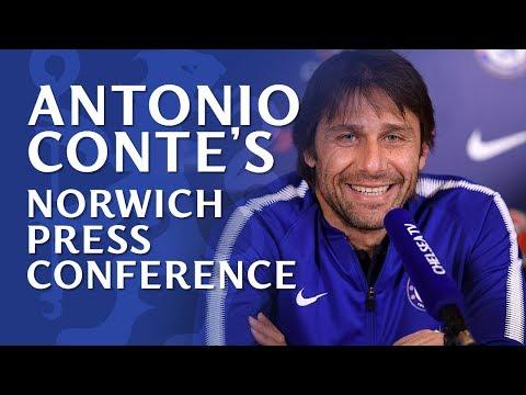 Antonio Conte Press Conference | Chelsea v Norwich City