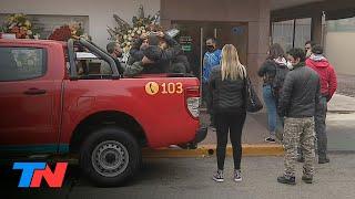 Dolor en la despedida a Ariel Vázquez, uno de los bomberos muertos en la explosión de Villa Crespo