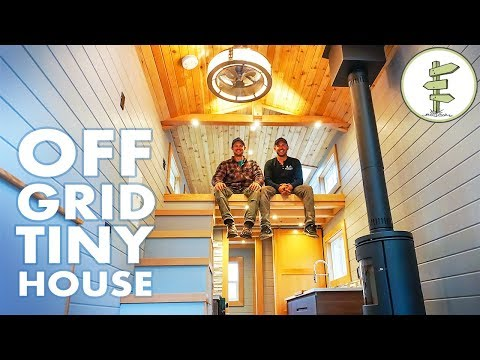 Super Modern Off Grid Tiny House - Full Tour