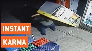 Instant Karma for Beer Fridge Thief   Walk of Shame