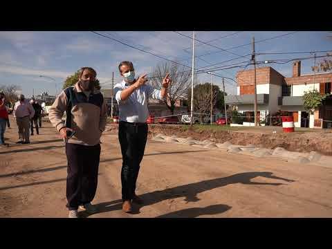 Paraná: Bahl recorrió obras de calle Racedo
