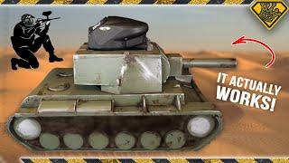 Functional War Gaming Tank that Shoots