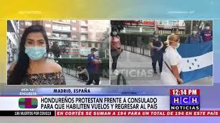 ¡Complicada situación! Hondureños varados en España claman por un vuelo humanitario