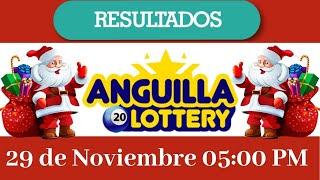Resultados de la lotería Anguilla  Lottery 05:00 PM de hoy 29 de Noviembre del 2020