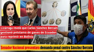 Senador Loza: Lizárraga reveló que Sánchez Berzaín gestionó préstamo de gases de Ecuador a Bolivia