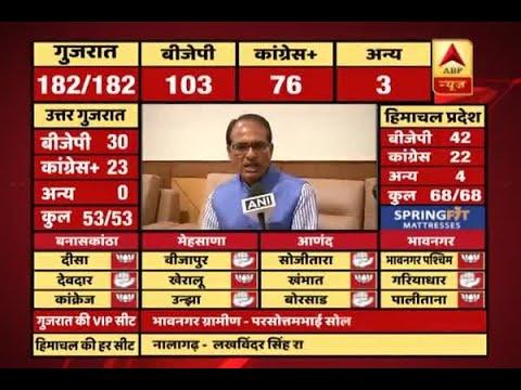 #ABPResults : People have faith in PM Modi, says Shivraj Singh Chouhan on Gujarat win
