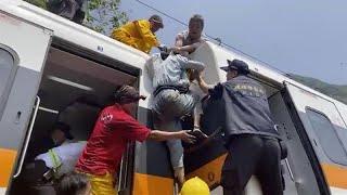 Plus de 50 morts et 140 blessés dans un accident de train à Taïwan, un Français décédé