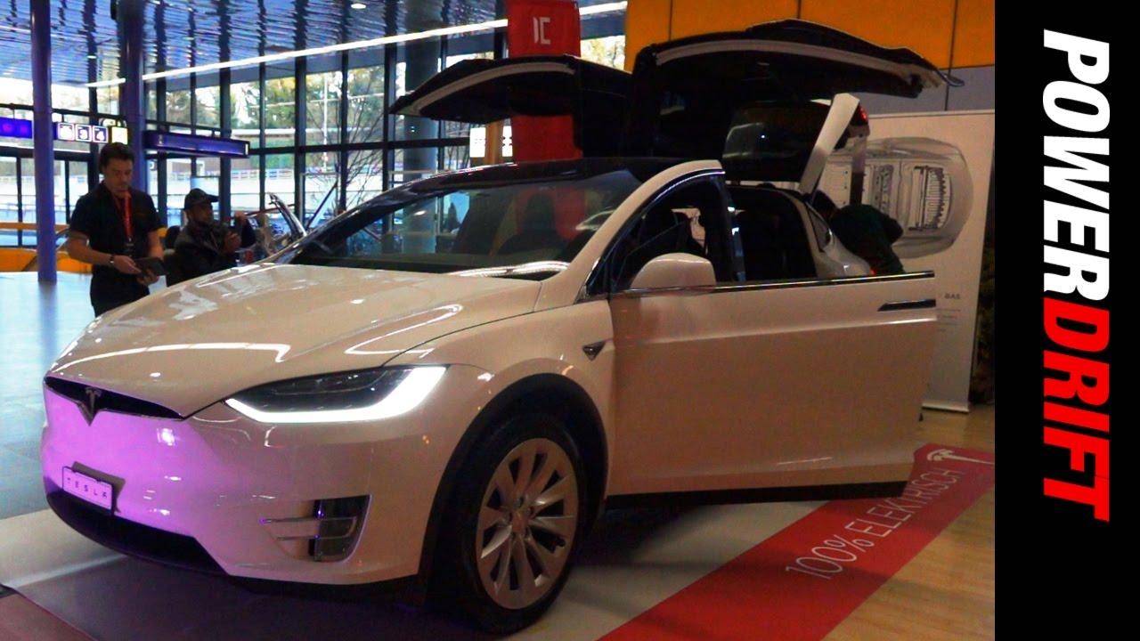 டெஸ்லா மாடல் எக்ஸ் : geneva motor show : powerdrift