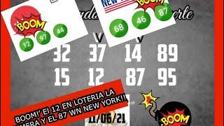 BOOM!! EL 12 EN LOTERIA LA PRIMERA Y 87 WN NEW YORK!!????????????