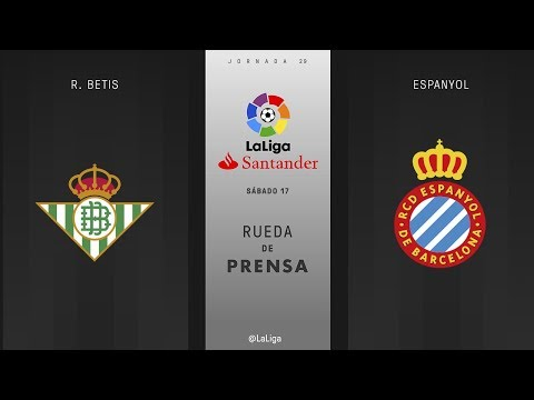 Rueda de prensa R. Betis vs Espanyol