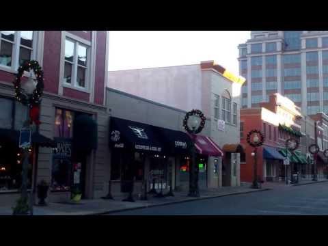 Downtown Roanoke, Virginia on Christmas Day