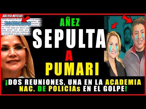 AÑEZ HUN-DE A PUMARI. REVE-L4 DOS ENCUENTROS CON PUMARI. UNA EN LA ACADE-MIA DE POLICI4S DE LA PAZ