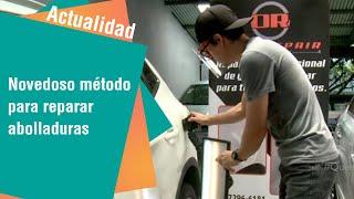 Joven usa novedoso método para reparar abolladuras en carros