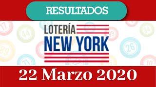 Loteria New Yourk Tarde Resultado de hoy 22 de Marzo del 2020