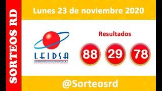 Leidsa y Loteria Nacional en vivo  / Lunes 23 de noviembre 2020