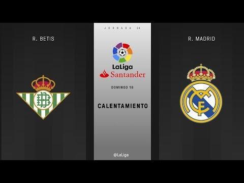Calentamiento R. Betis vs R. Madrid