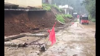 Muro perimetral de escuela se desploma en Momostenango