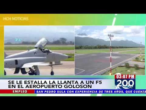 ¡Urgente! Explotan llantas a un F5 en aeropuerto de La Ceiba, Honduras
