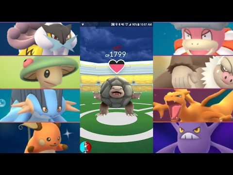 connectYoutube - Pokémon GO GEN 3 gym battles Breloom, Slaking, Manectric, Swampert, Charizard, Raichu & more