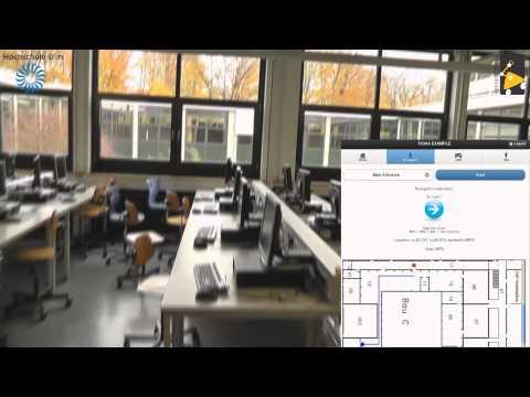 HSU iBeacon Example: Mobile navigator through an indoor environment