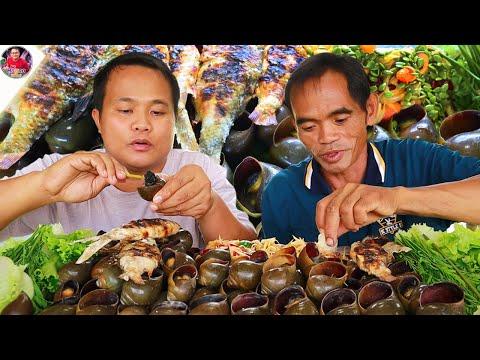 ต้มหอยปัง-ปิ้งปลาขาวฮ้อนๆ-แกล้