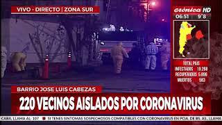 Alerta coronavirus: 220 personas aisladas en un barrio de zona sur