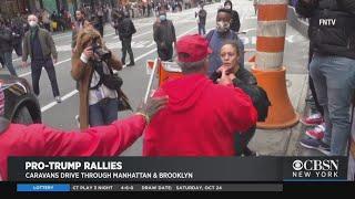 Pro-Trump Caravans Drive Through Manhattan, Brooklyn