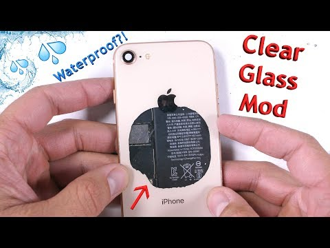 What makes the iPhone 8 Waterproof? + Clear Back Mod!