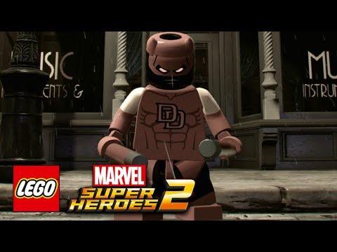 LEGO Marvel Super Heroes 2 - Daredevil Noir Free Roam Gameplay Showcase