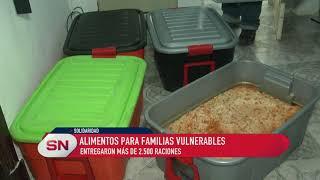 Alimentos para familias vulnerables. Entregaron más de 2500 raciones. Mov Solidario Rosario.