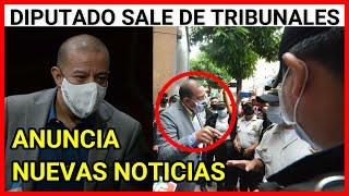 Urgente Guatemala Diputado Aldo Dávila sale de Tribunales y estas son sus declaraciones
