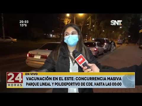 Vacunación en el Este: Concurrencia masiva