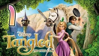 Disney Tangled Walkthrough Part 1 (Wii, PC) ✿ First Frolie Part 1 ❤ Full 100% Game