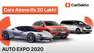 Cars Above Rs 20 Lakh You Could See @ Auto Expo 2020 | Kia Carnival, Hyundai Nexo & More! | CarDekho