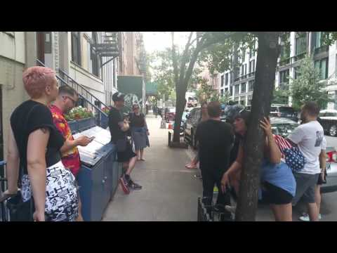 Walking tour with John Joseph on the taxi movie set