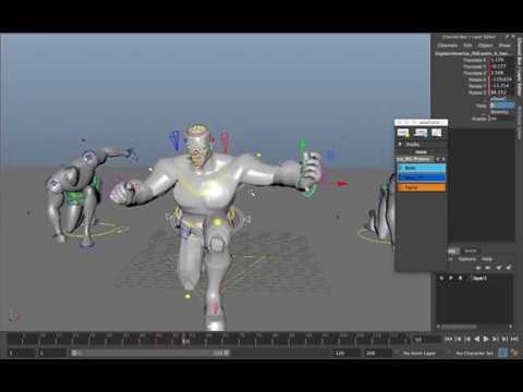 Superhero Landing Blocking Animation Tutorials   Anuj Kumar Shakya