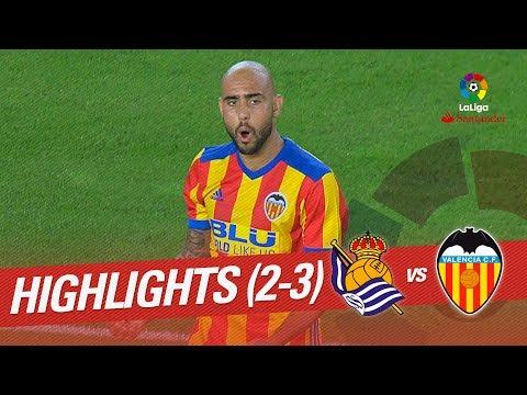 Resumen de Real Sociedad vs Valencia CF (2-3)