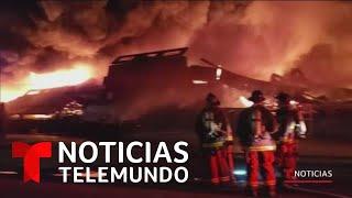 Voraz incendio devora un almacén en el muelle 'Pier 45' de San Francisco, California