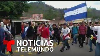 Miles de hondureños se dirigen hacia EE. UU. en nueva caravana de migrantes   Noticias Telemundo