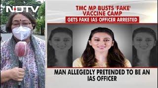 Actor-MP Mimi Chakraborty Gets Covid Jab At backslash