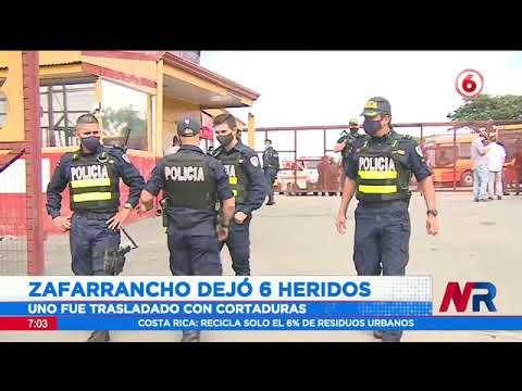 Zafarrancho dejó 6 heridos en plantel de busetas heredianas