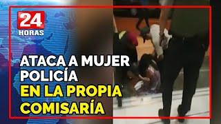 Mujer policía fue atacada por detenida dentro de comisaría